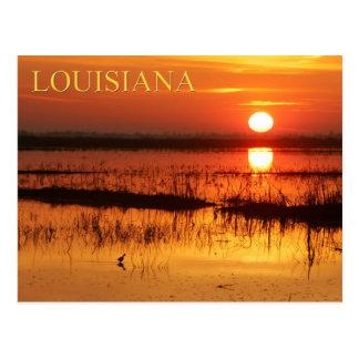 Sunrise over coastal waters of Louisiana Postcard