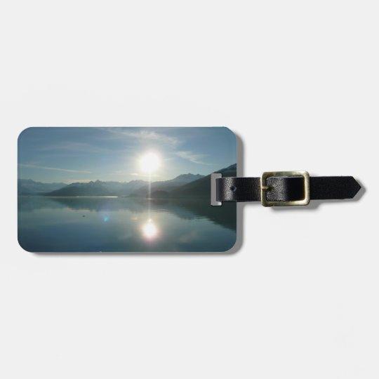 Sunrise over College Fjord Alaska Photography Luggage Tag