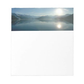 Sunrise over College Fjord Alaska Photography Notepad