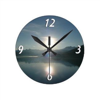 Sunrise over College Fjord Alaska Photography Round Clock