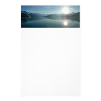 Sunrise over College Fjord Alaska Photography Stationery