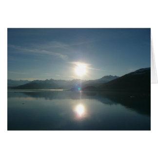 Sunrise over College Fjord Card
