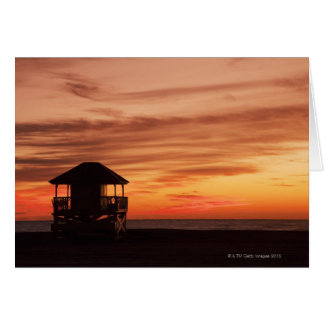 Sunrise over Crandon Beach at Key Biscayne Greeting Card