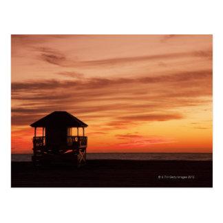 Sunrise over Crandon Beach at Key Biscayne Postcard