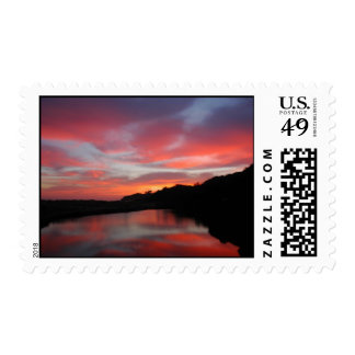 Sunrise Over Creek.Phillip Island.Australia. Stamp