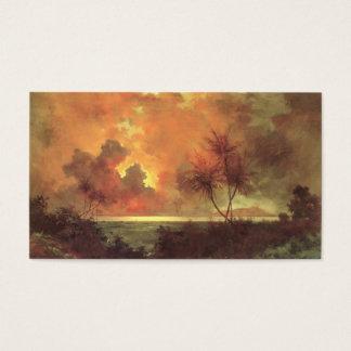 Sunrise Over Diamond Head, oil on canvas painting Business Card