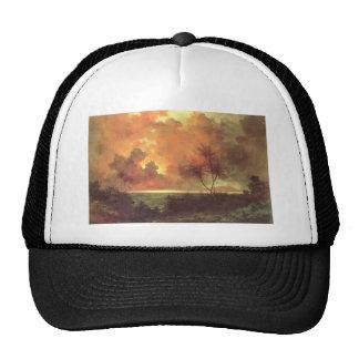 Sunrise Over Diamond Head, oil on canvas painting Trucker Hat