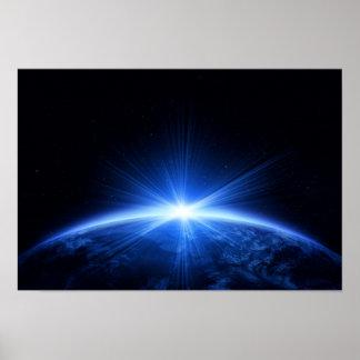 Sunrise Over Earth Poster