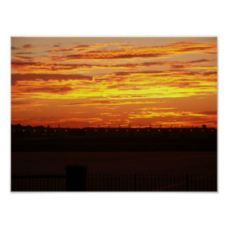 Sunrise over Edwards AFB Poster