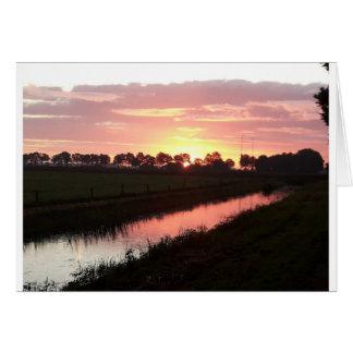 Sunrise Over Farmland Card