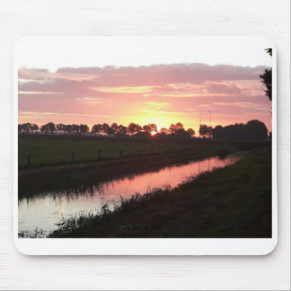 Sunrise Over Farmland Mouse Pad