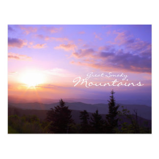Sunrise over Great Smoky Mountains Post Card