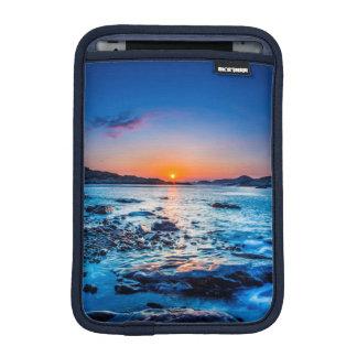 Sunrise Over Horizon At Seashore At Dawn iPad Mini Sleeve