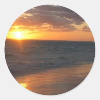 Sunrise over Horizon Classic Round Sticker