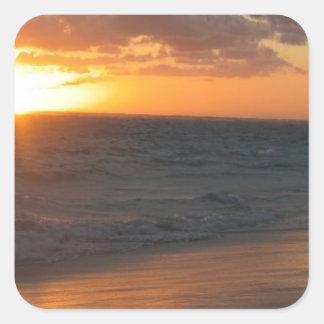 Sunrise over Horizon Square Sticker