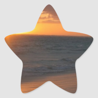 Sunrise over Horizon Star Sticker