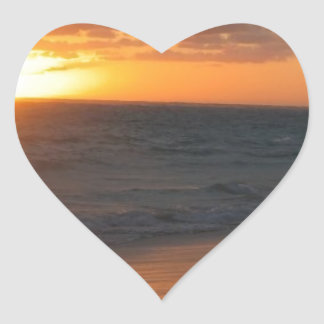 Sunrise over Horizon Heart Sticker