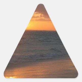 Sunrise over Horizon Triangle Sticker