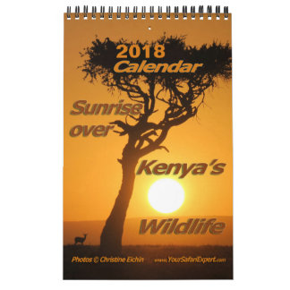 Sunrise over Kenya's Wildli Calendar (Single Page)