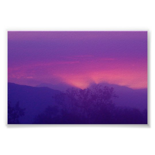 Sunrise Over LA Poster