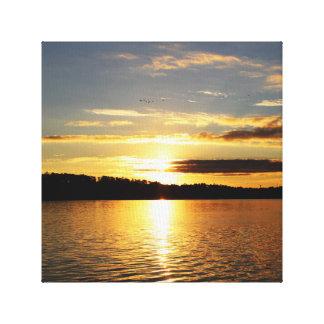 Sunrise Over Mobile Bay Canvas Print