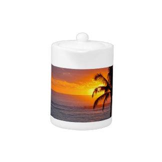 Sunrise over Ocean Teapot
