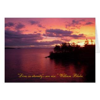 Sunrise over Orcas Card