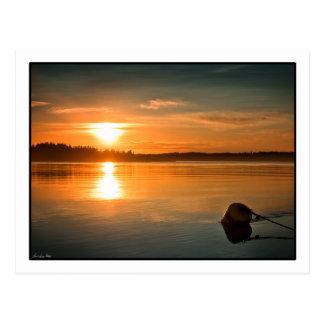Sunrise over Passamaquoddy Bay. Postcard