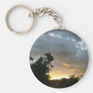 Sunrise Over Point Park Basic Round Button Keychain