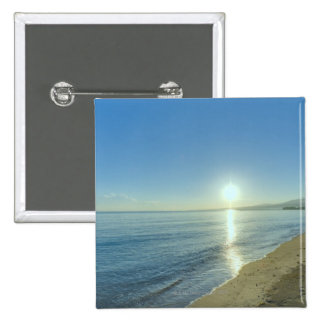 Sunrise over Pristine Tropical Beach Pinback Button