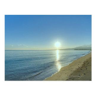 Sunrise over Pristine Tropical Beach Postcard