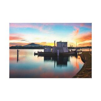 Sunrise over PS Enterprise Wrapped Canvas Canvas Print