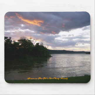 Sunrise Over River at Point Park Mouse Pad