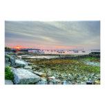 sunrise over rockland harbor art photo