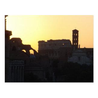 Sunrise over Roman Forum Postcard