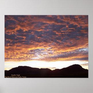 Sunrise over Rosillo Peak Poster