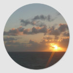 Sunrise over San Juan I Puerto Rico Seascape Classic Round Sticker