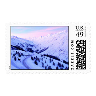 Sunrise over Snowy Mountains Stamps
