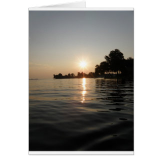 Sunrise over soft water card