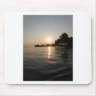 Sunrise over soft water mouse pad