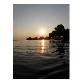 Sunrise over soft water postcard