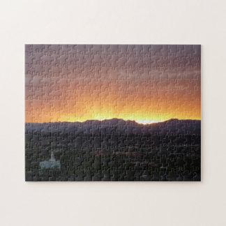Sunrise over St. George Utah Landscape Jigsaw Puzzle