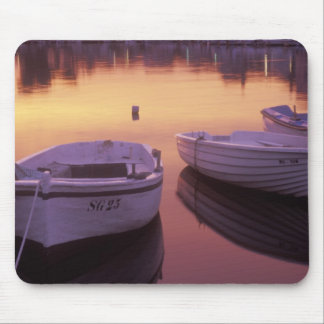 Sunrise over Stari Grad harbor with fishing Mouse Pad