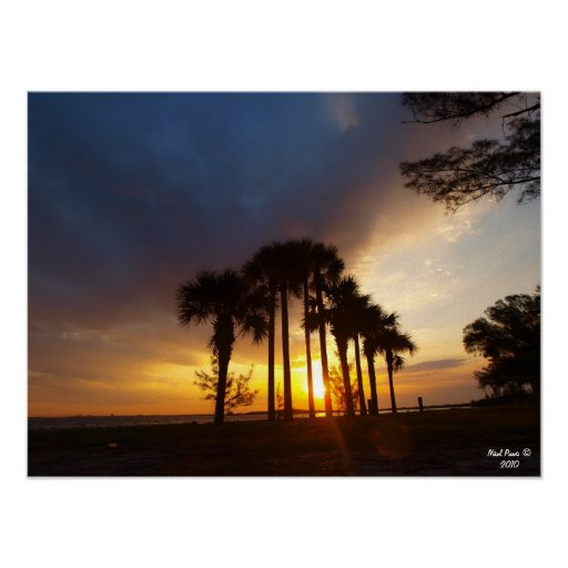 Sunrise over Tampa Florida Poster
