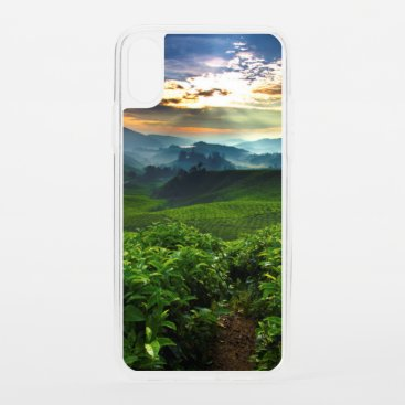 Sunrise over Tea Farm iPhone XS Case