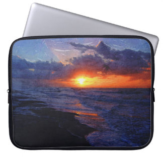 Sunrise Over The Atlantic Ocean Computer Sleeve
