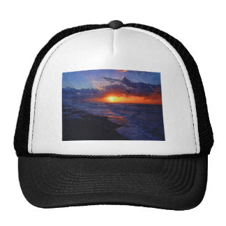 Sunrise Over The Atlantic Ocean Trucker Hats