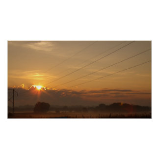 Sunrise over the country side print