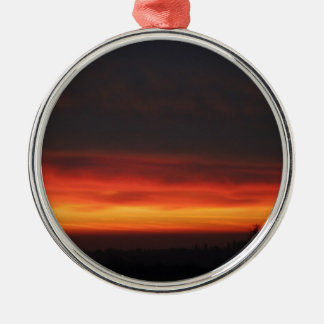 Sunrise over the English countryside Metal Ornament