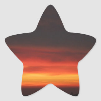 Sunrise over the English countryside Star Sticker